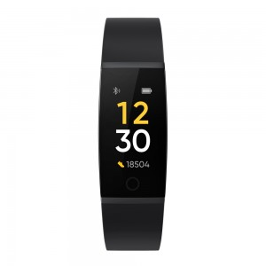 realme Band Black- Real-time Heart Rate Monitor, Large Colour Display, Intelligent Sports Tracker, Sleep Quality Monitor, Smart Notifications