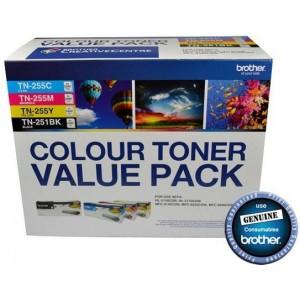 TN-251BK & TN-255 Colour Toner Value Pack V2(N8AE00003)