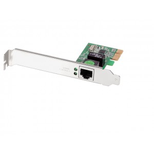 Edimax GbE PCIe Adapter Realtek RTL8168E Single Chip (w/ Low profile Bracket)