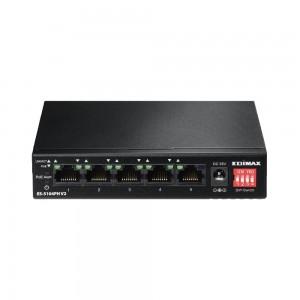 Edimax 5-Port 10/100M PoE+ Switch (4 PoE+ ports, 75W) Long Distance PoE