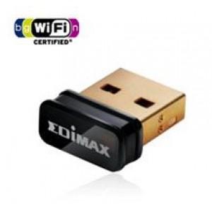 Edimax N150 Nano Wireless USB Adapter LAN/802.11bgn/2.4Ghz (150Mbps)/USB/Miniature Design/Design for Notebook Laptop