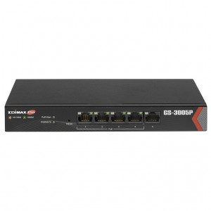 Edimax GS-3005P Long Range 5-Port Gigabit Web Managed Switch with 4 PoE+ Ports Long Distance PoE