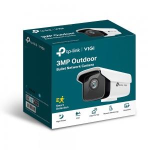 TP-Link VIGI 3MP VIGI C300HP-4 Outdoor Bullet Network Camera, 4mm Lens, Smart Detection, Smart IR, WDR, 3D DNR, Night Vision, H.265+, PoE/12V DC