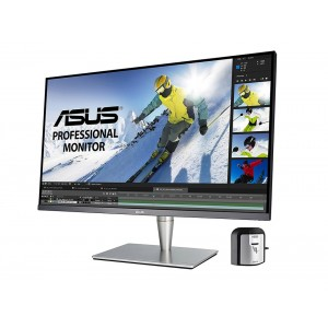 "ASUS ProArt PA32UC-K 32"" 4K HDR Direct-LED IPS Professional Monitor Colour Pre-Calibrated 5ms UHD 3840x2160 Thunderbolt 3 USB-C HDMI 2.0 DisplayPort Speakers Tilt Pivot Height Adjustment VESA EyeCare"