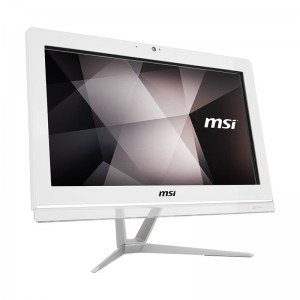 "MSI Pro 20EXTS 8GL 19.5"" White AIO PC N4000 8GB 256GB No OS Touch Win10 Desktop PC"