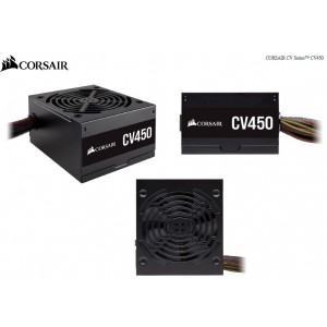 Corsair 450W CV Series CV450, 80 PLUS Bronze Certified, Compact design, ATX Power Supply