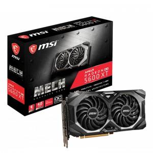 MSI AMD Radeon RX 5600 XT MECH OC 6GB GDDR6 PCIe 4.0 Graphics Card 7680x4320 4xDisplays 3xDP HDMI 1600 MHz 51nm TORX FAN3.0