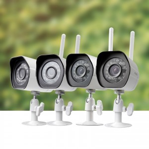 Zmodo 1280x720p Wireless IP Network Outdoor Home Security Camera Night Vision (4 Pack)
