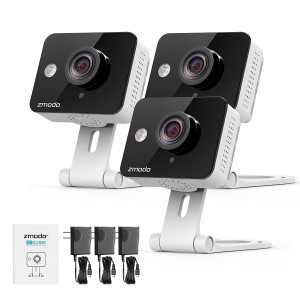 Zmodo 720P Indoor Wireless WiFi Security IP Camera Two way Audio Remote Access (3 Pack)