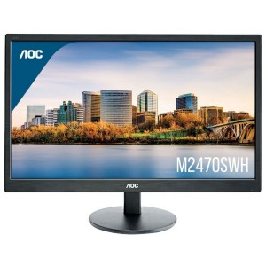 "AOC M2470SWH 24"" LED LCD Gaming Computer Monitor FHD Speaker VA 16:9 HDMI VGA"