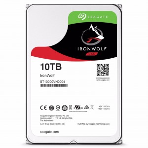"Seagate IronWolf 10TB 3.5"" SATA Internal NAS Hard Drive HDD 7200RPM 256MB Cache ST10000VN0004"