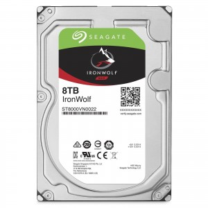 "Seagate IronWolf 8TB 3.5"" SATA Internal NAS Hard Drive HDD 7200RPM 256MB Cache ST8000VN0022"