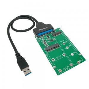 Simplecom SA221 USB 3.0 to mSATA + NGFF M.2 (B Key) SSD 2 in 1 Combo Adapter SA221