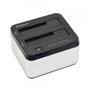 "Simplecom SD322 Dual Bay USB 3.0 Aluminium Docking Station for 2.5"" and 3.5"" SATA HDD SD322-SL"