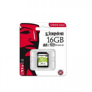 Kingston 16GB SD UHS-I Canvas Select 80MB/s Class 10 Memory Card SDS/16GB