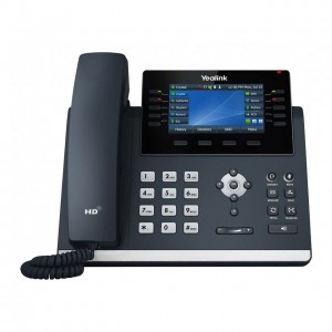 Yealink T46S 16 Line IP phone, 4.3' 480x272 pixel colour display with backlight, Dual Gigabit Ports, 10 Program keys/BLF/XML/HDV,1 USB port- IPF-X6