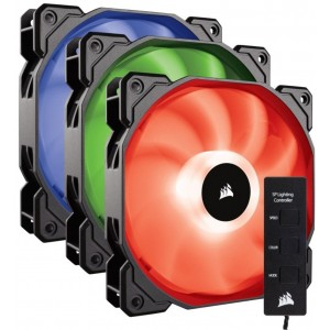 Corsair SP120 RGB LED High Performance 120mm Fan Three Pack with Controller CO-9050061