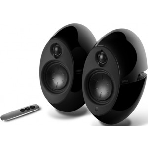 Edifier E25HD LUNA HD Bluetooth Speakers Black - BT 4.0/3.5mm AUX/Optical DSP/ 74W Speakers/ Curved design/Dual 2x3 Passive Bass/Wireless Remote