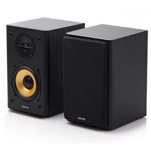 Edifier R1000T4 Ultra-Stylish Active Bookself Speaker - Uncompromising Sound Quality for Home Entertainment Theatre - 4inch Bass Driver Speakers BLACK