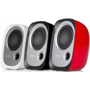 Edifier R12U USB Compact 2.0 Multimedia Speakers System (Red) - 3.5mm AUX/USB/Ideal for Desktop,Laptop,Tablet or Phone