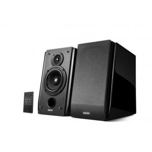 Edifier R1850DB Active 2.0 Bookshelf Speakers - Includes Bluetooth, Optical Inputs, Subwoofer Supported, Built-in Amplifier, Wireless Remote BLACKWOOD