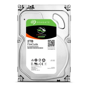 "Seagate FireCuda 2TB 3.5"" SATA Internal Desktop Hybrid Hard Drive SSHD 8GB SSD ST2000DX002"