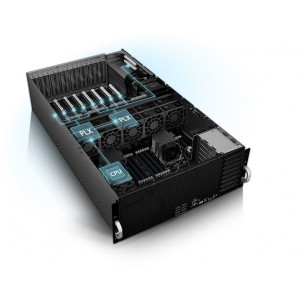 Asus 4RU Barebones Server, ESC8000 G4, 8 x GPU Compatible, Dual Xeon Socket, 24 x DIMM,  6 x 2.5' HDD Bays, iKVM, 1600w RPSx 3 ,  8 x PCI-E 3.0 x 16