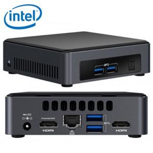 Intel NUC mini PC i3-7100U 2.4GHz 2xDDR4 SODIMM M.2 SSD 2xHDMI 2xDisplays GbE LAN Wifi BT 4xUSB3.0 24/7 for DS POS Thin Client