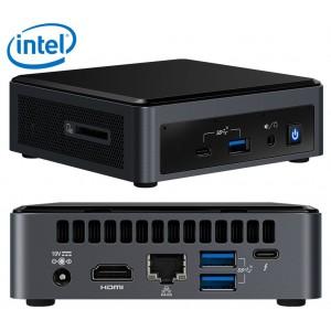 Intel NUC mini PC i7-10710U 4.7GHz 2xDDR4 M.2 SSD 3xDisplays HDMI USB-C DP GbE LAN WiFi BT VESA Thunderbolt 3 4xUSB3.1 2x USB2