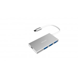 Volans VL-HB3C Aluminium USB-C to 3-Port USB3.0 Hub with Power Delivery