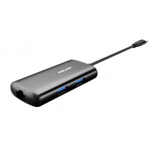 Volans Aluminium USB-C to 4K HDMI Multi-function Adapter w/PD LAN USB-A VL-UCH3CL