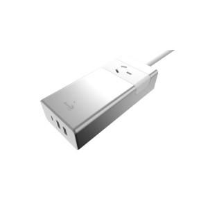 Aerocool ASA Aluminum Power Board 1 Power Outlet, 1 TypeC 5V/3.0A , 2 USB Charging Port 5V/2.4A  (LS)