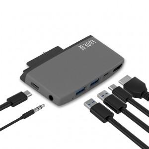 mbeat  Edge Go Multifunction USB- C Hub for Microsoft Surface Go 锛圲SB 3.0 Data x 2, USB-C Data x 1, HDMI, 3.5mm Audio, USB-C PD pass through charge)
