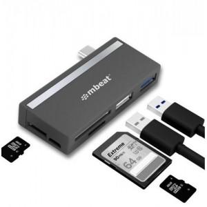 mbeat  Essential聽 5-IN-1 USB- C Hub ( USB hub 2.0, 3.0, SD/TF Card Reader Supports SDXC, MicroSDXC)