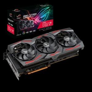 ASUS AMD ROG Strix Radeon™ RX 5700 XT OC Edition 8GB GDDR6, 3 Fans, 3xDP/1xHDMI, 2035 Boost, RGB