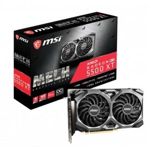 MSI AMD Radeon RX 5500 XT Mech OC 4GB GDDR6 PCIe 4.0 Graphics Card 7680x4320 4xDisplays 3xDP HDMI 1845/1647 MHz 51nm TORX FAN3.0