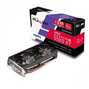 SAPPHIRE AMD RADEON PULSE RX 5500 XT 4GB GDDR6 HDMI / TRIPLE DP OC W/BP (UEFI) LITE VGA CARD