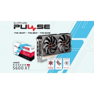 SAPPHIRE AMD RADEON PULSE RX 5600 XT BE 6GB GDDR6 Black Edition 1620MHz Boost 2xDP/2xHDMI PCIE 4.0 Single BIOS