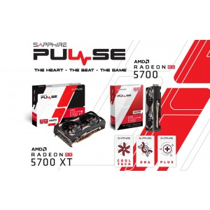 SAPPHIRE AMD RADEON PULSE RX 5700 XT BE 8GB GDDR6 Black Edition 1925MHz Boost 3xDP/1xHDMI PCIE 4.0 Single BIOS