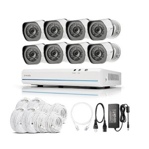 Zmodo 1080P NVR 8CH Outdoor CCTV 720P sPoE Security Camera System 2MP