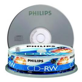 Philips CDRW 1X-12X 80 mins (Tube of 10)