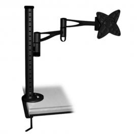 Brateck LCD Monitor Table Stand w/Arm & Desk Clamp Black VESA 75/100mm BT-LCDT6-BK