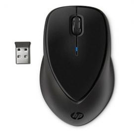 HP Wireless Mouse Comfort Grip, 3 Button, Optical, Nano USB Receiver, Scroll Wheel, Colour: Black, 2.4GHz (Powered by 2xAA, included)